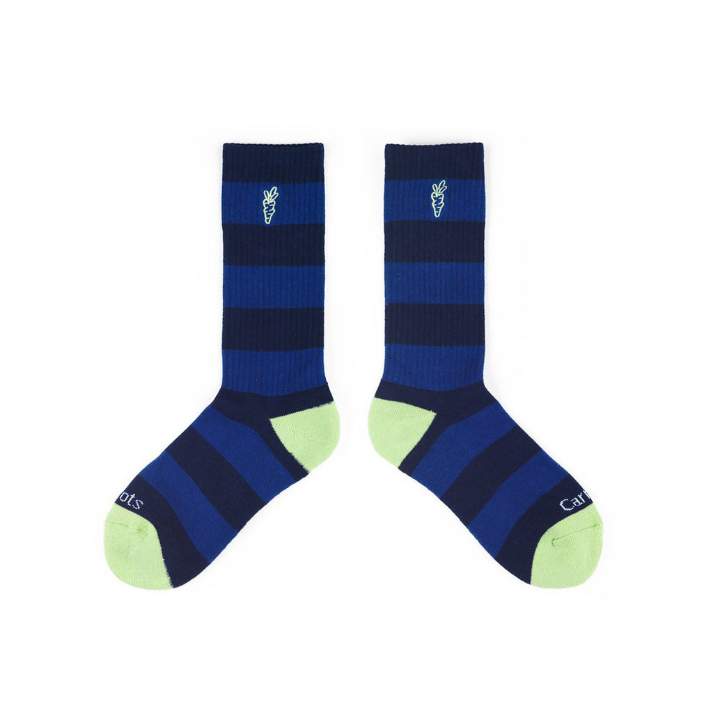 Carrots Striped Socks Navy