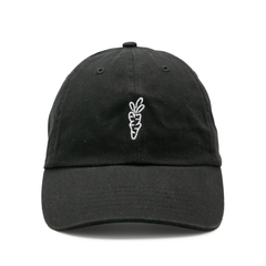 SIGNATURE CARROT DAD HAT BLACK