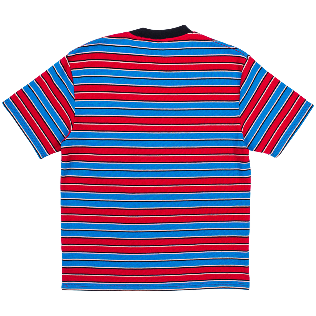 PLEASURES CHAINSMOKE STRIPE SS SHIRT BLU/MAR