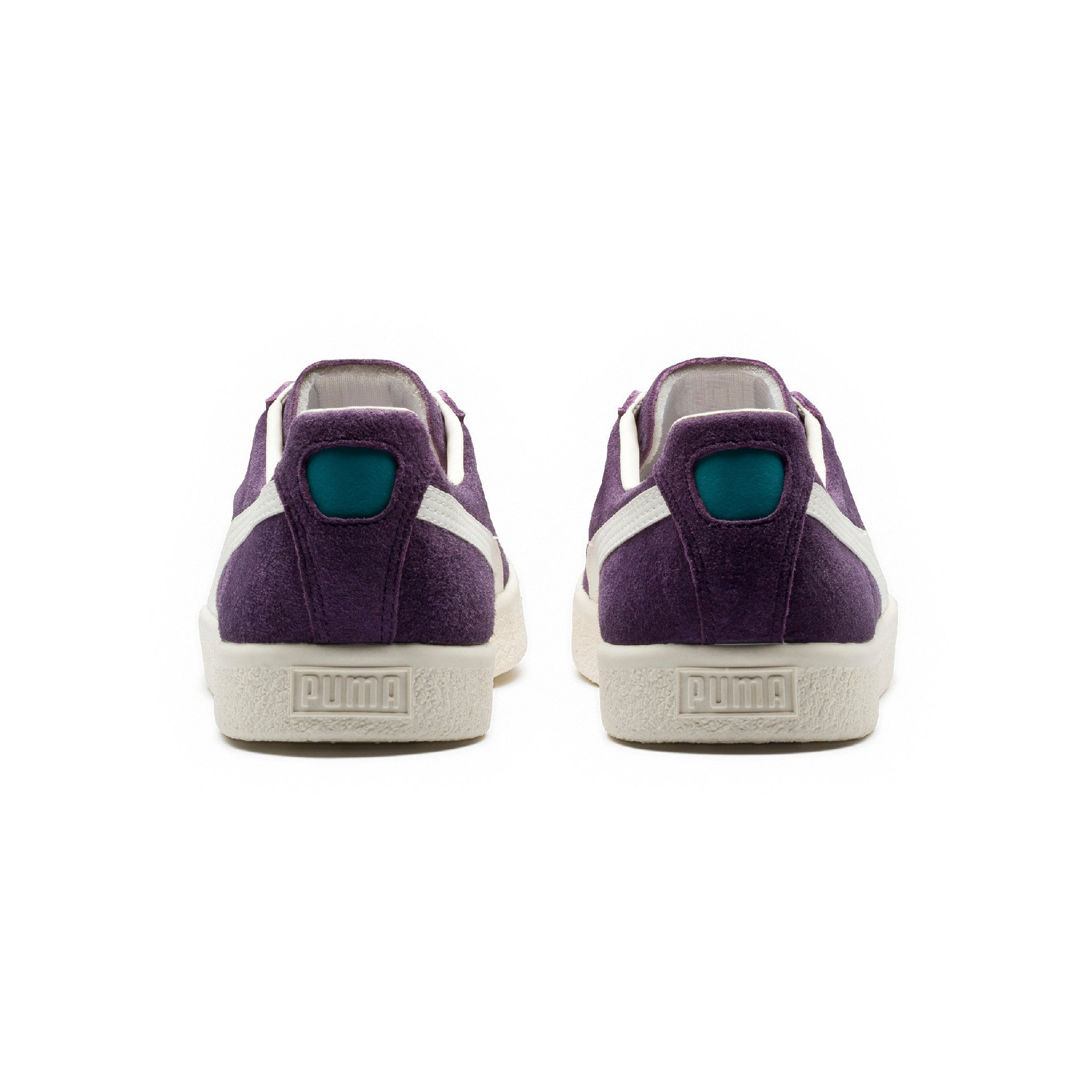 Clyde Premium Core Puma Sneakers Purple Back View