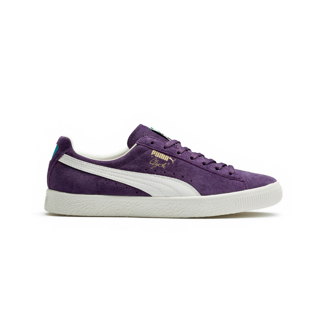 Clyde Premium Core Puma Sneakers Purple Side View
