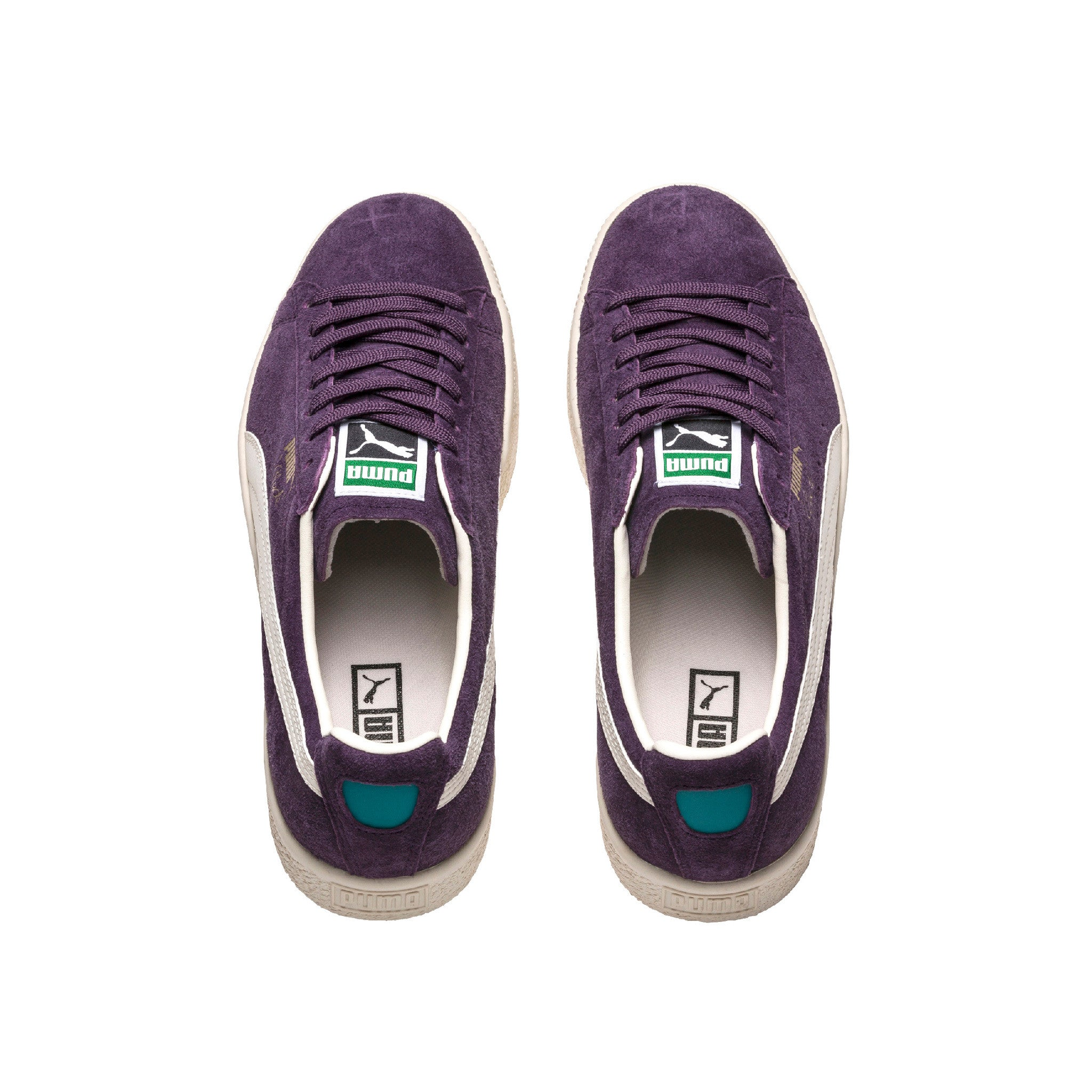 Clyde Premium Core Puma Sneakers Purple Top View
