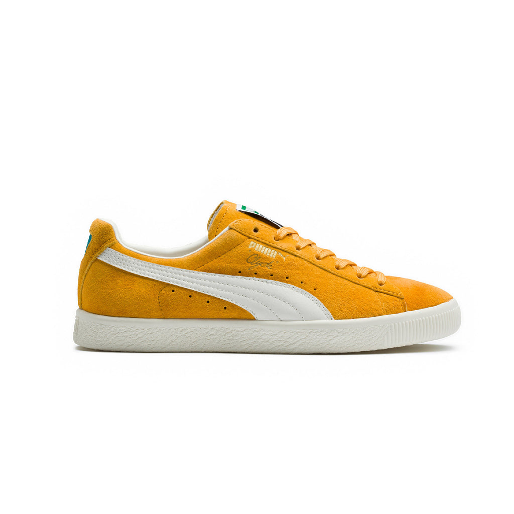 Clyde Premium Core Puma Sneakers Yellow Side View