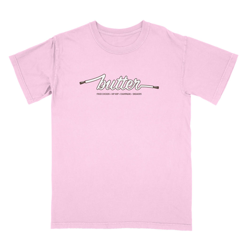 COLOURS BY BUTTER - CHERRY TEE (PINK/BROWN/WHITE)