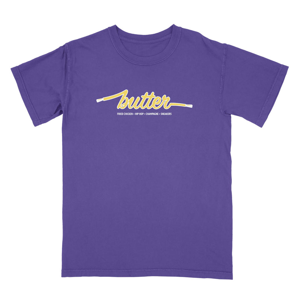 COLOURS BY BUTTER - LOS ANGELES TEE (PURPLE/YELLOW/WHITE)