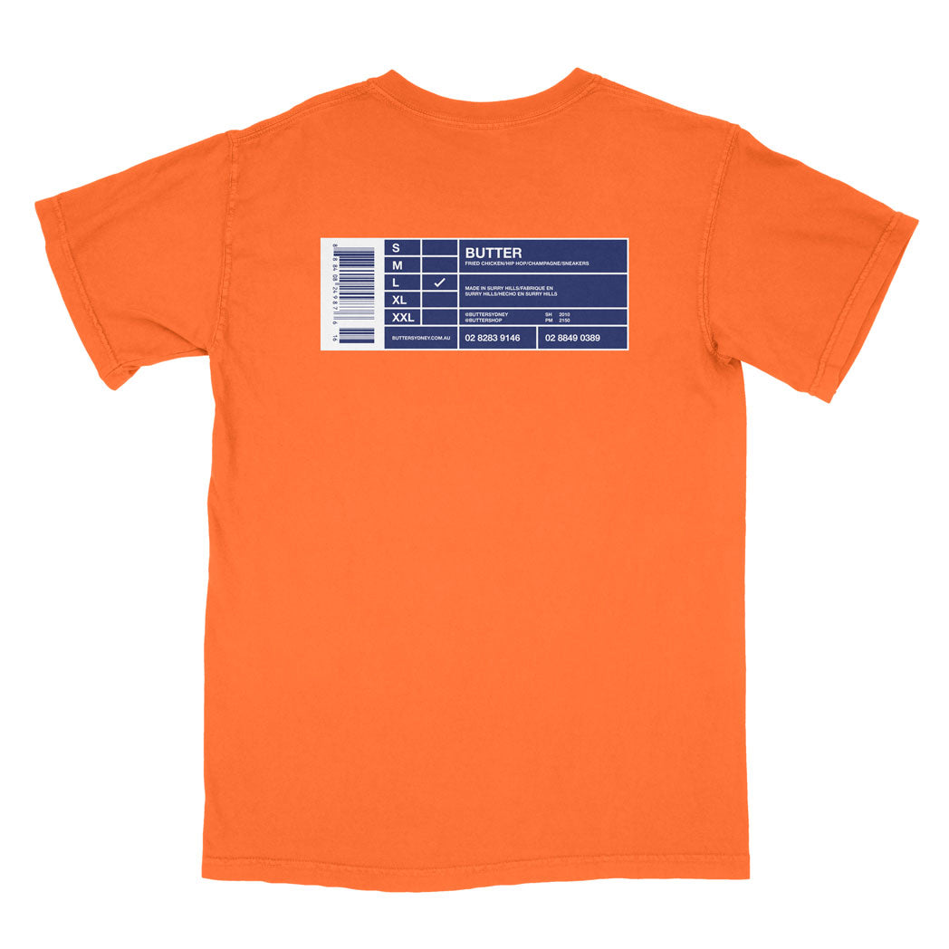 COLOURS BY BUTTER - SYRACUSE NY TEE (ORANGE/BLUE/WHITE)