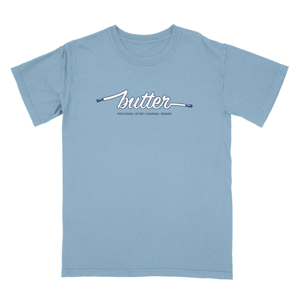 COLOURS BY BUTTER - UNC TEE (CAROLINA BLUE/NAVY/WHITE)