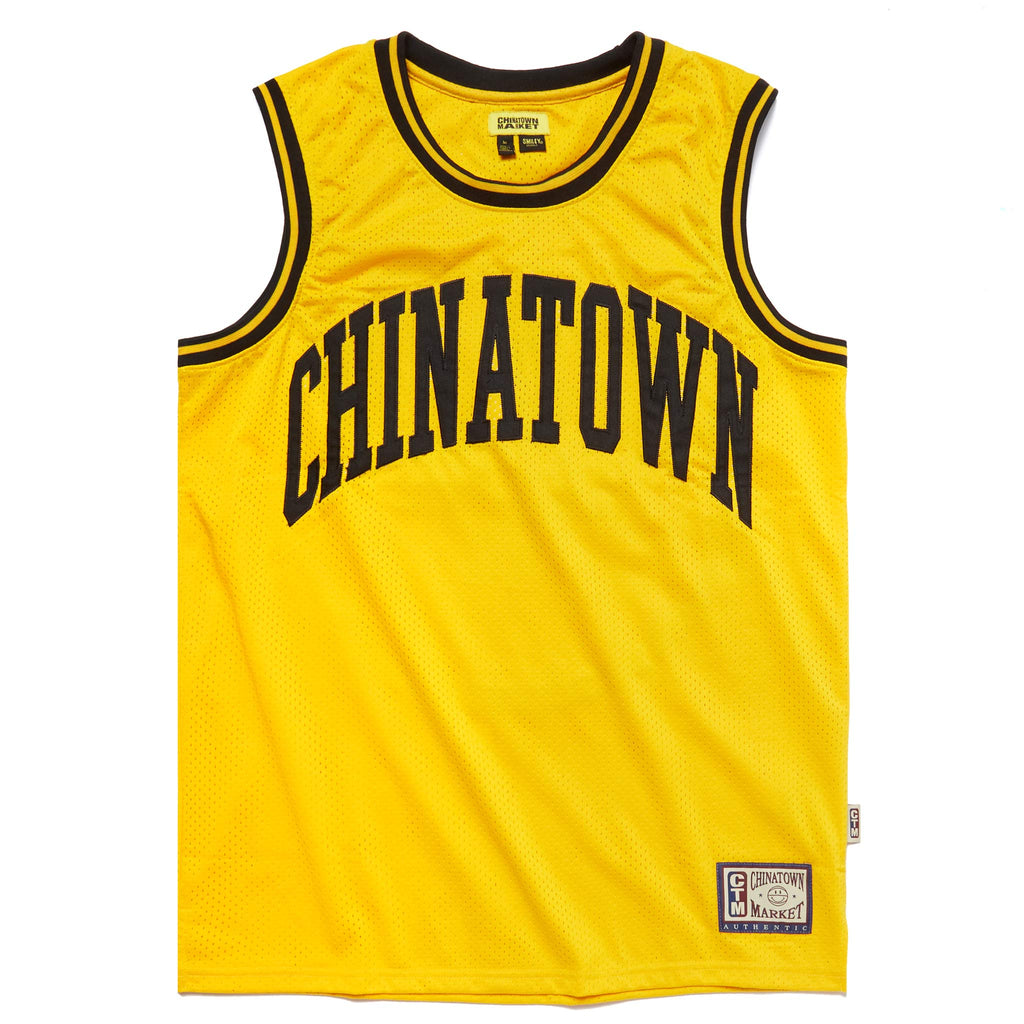 CHINATOWN MARKET SMILEY YELLOW BASKETBALL JERSEY