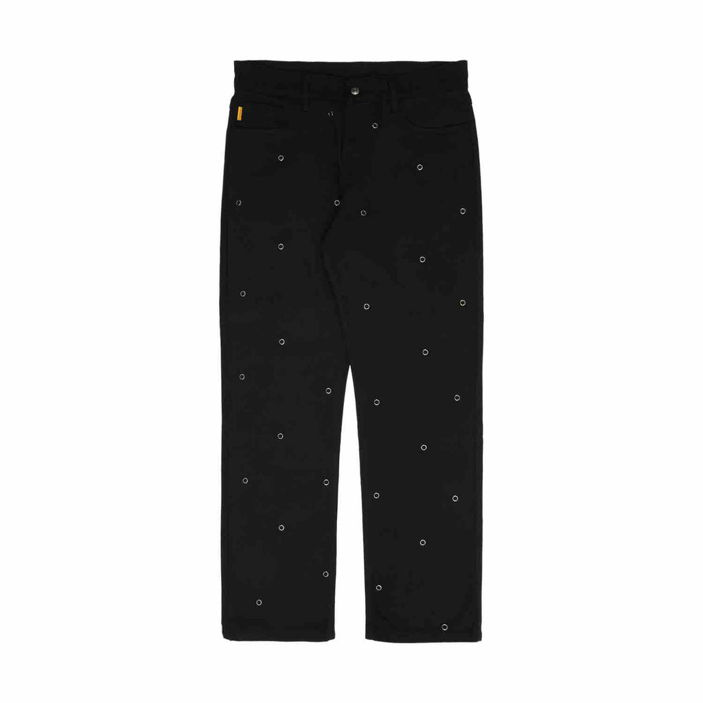 PLEASURES VILLAGE RIVET DENIM PANTS