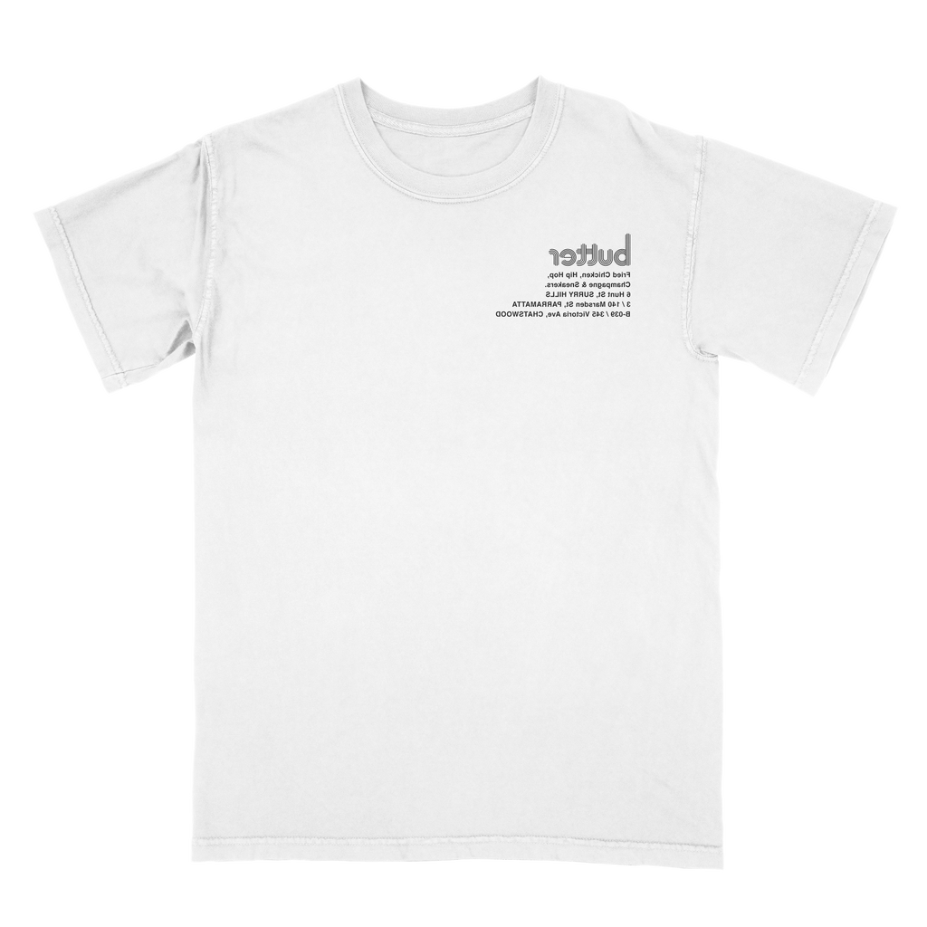 BUTTER PILLARS T-SHIRT WHITE