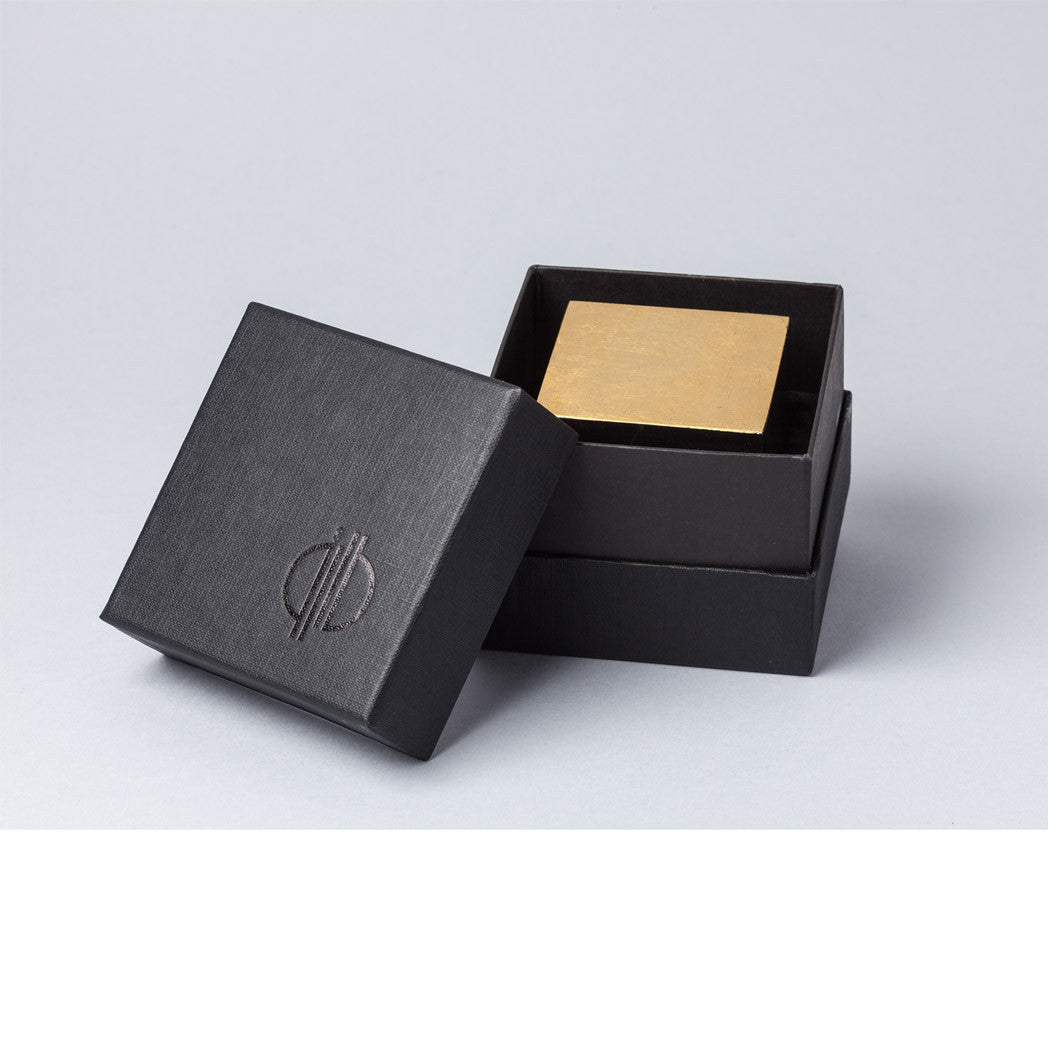 Gold Cut Paper Weight Tarek ElKassouf Tala Noir Box