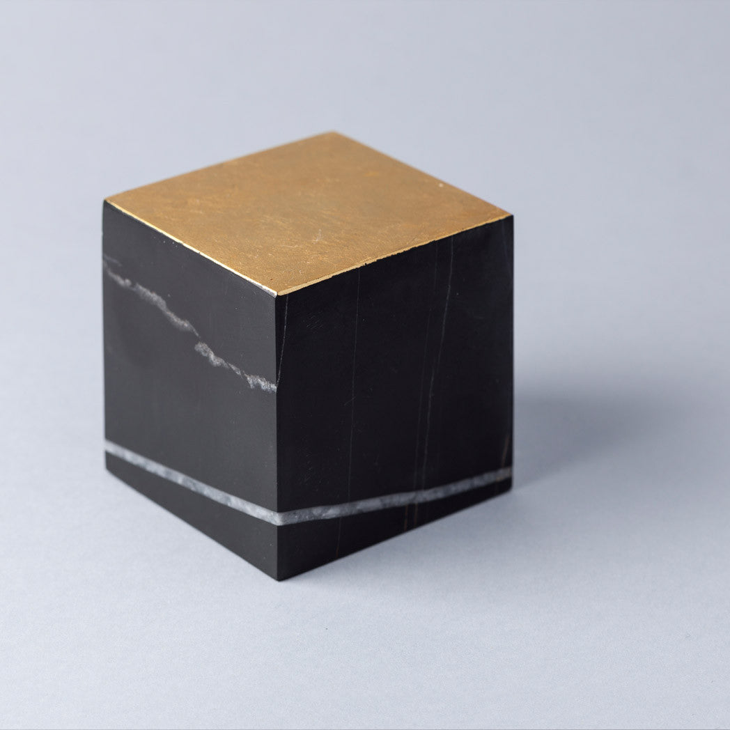 Gold Cut Paper Weight Tarek ElKassouf Tala Noir