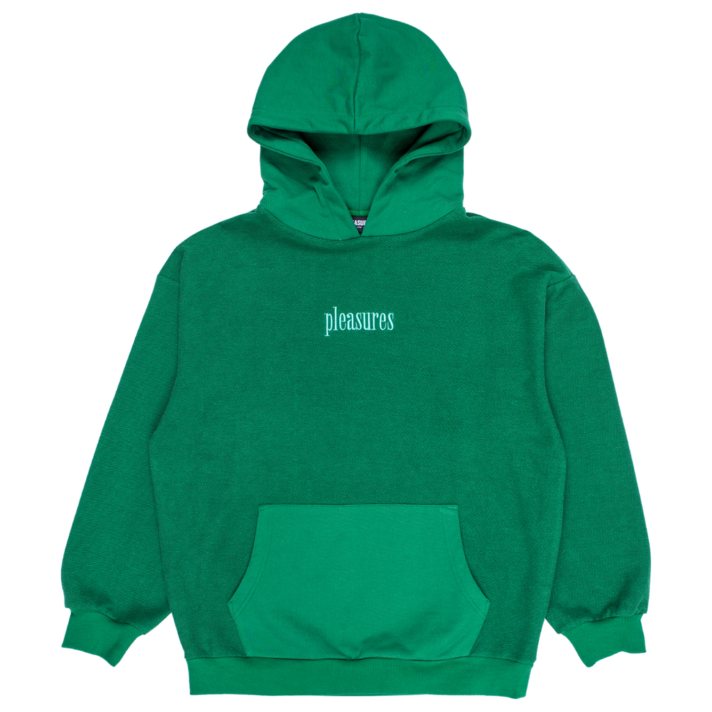 PLEASURES LOGIC REVERSE TERRY HOODIE GREEN