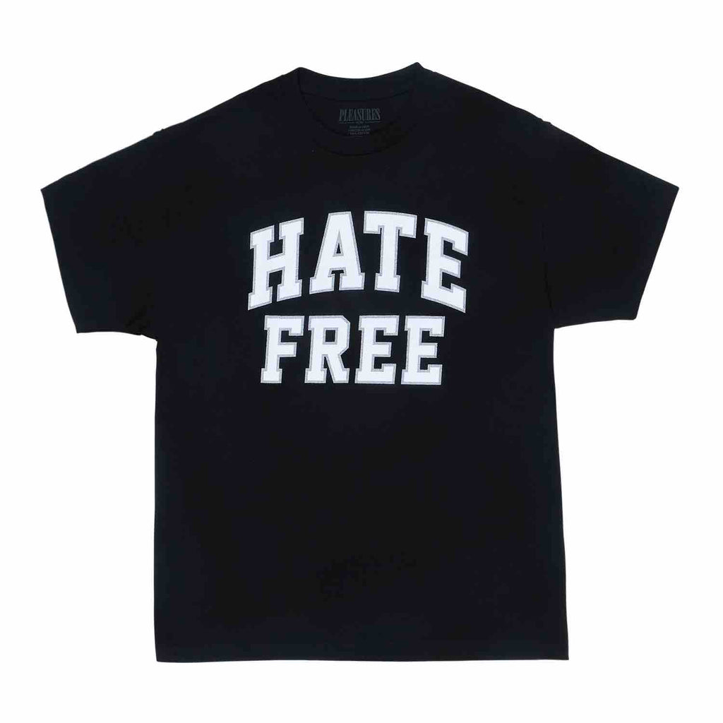 PLEASURES HATE FREE T-SHIRT BLACK