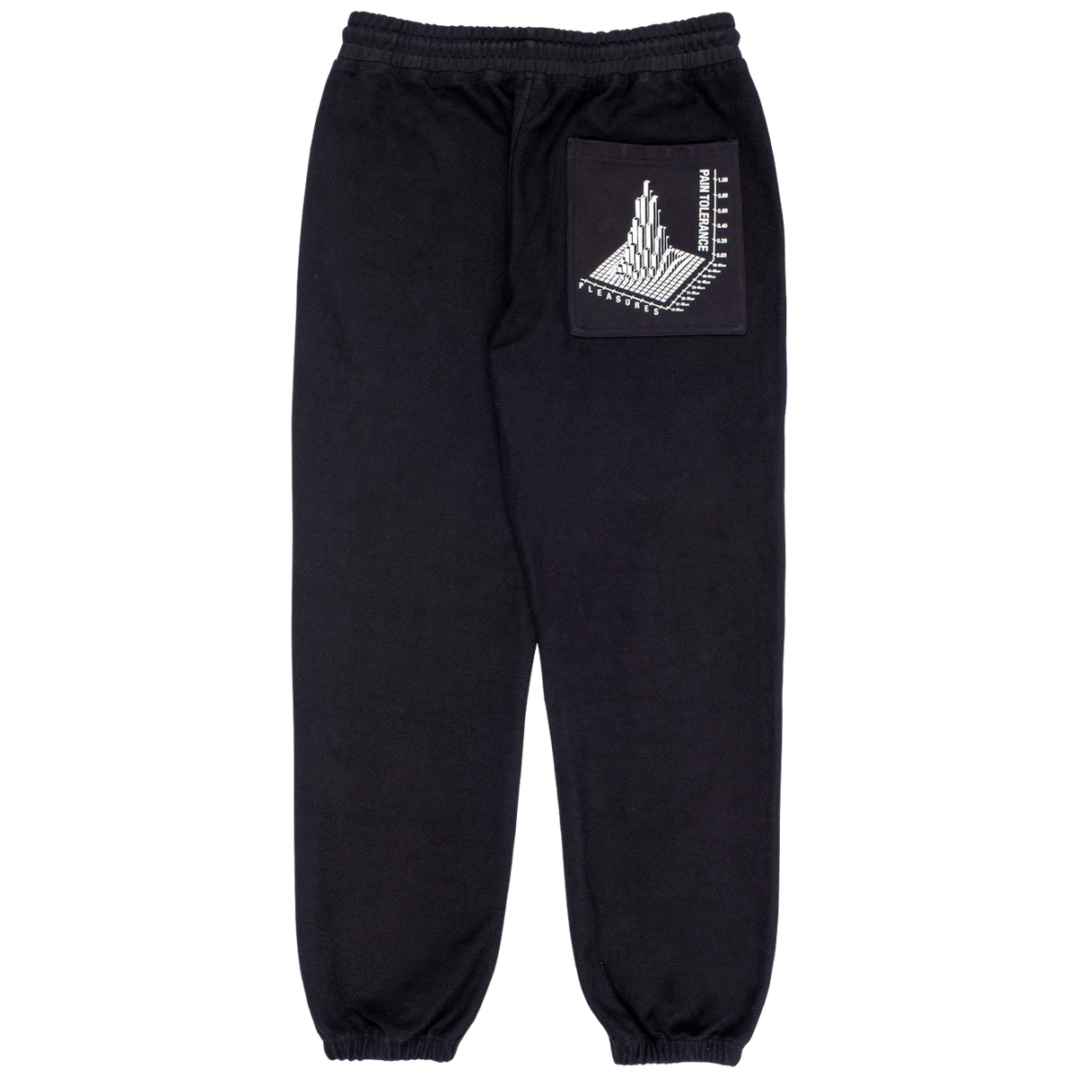 PLEASURES LOGIC REVERSE TERRY SWEATPANTS BLACK