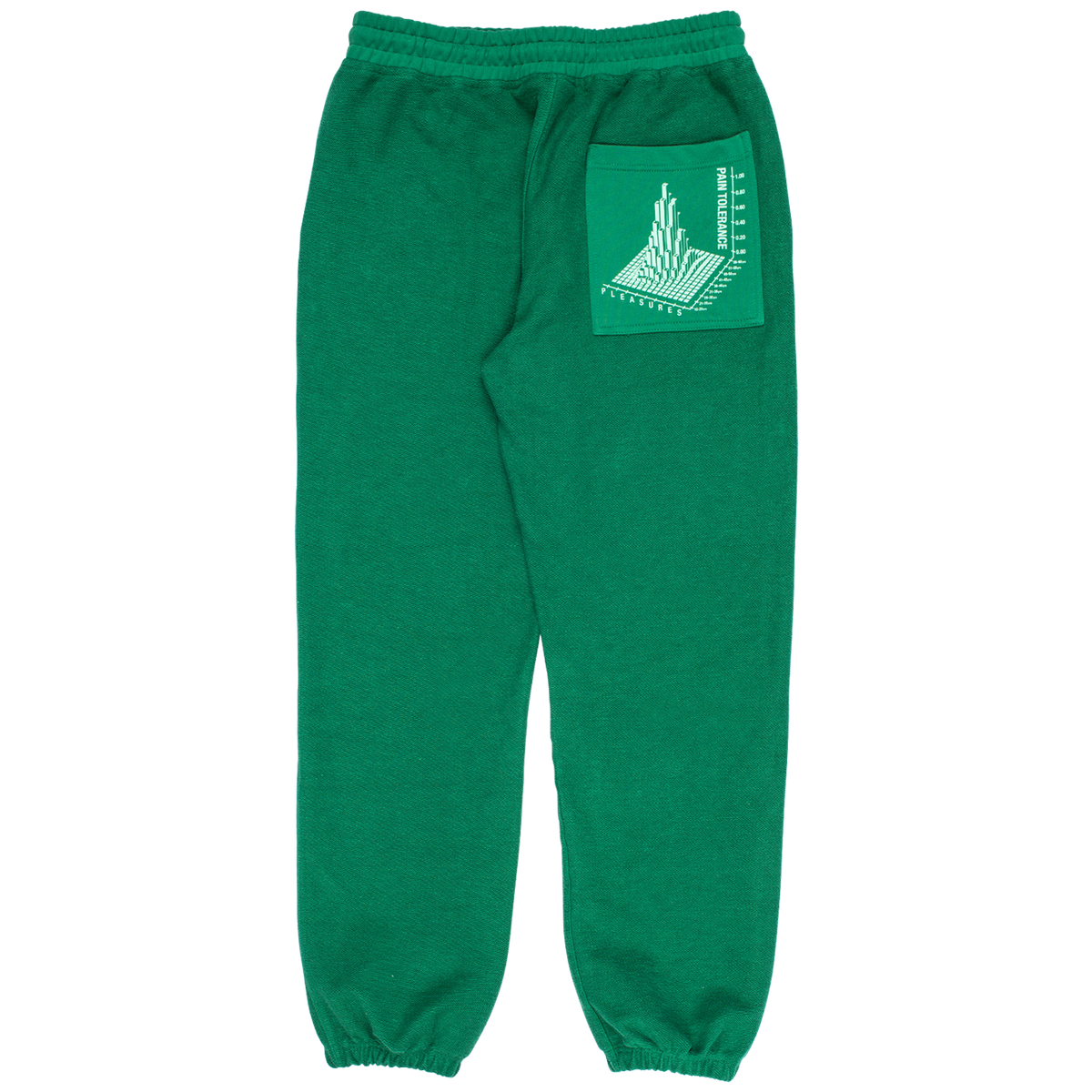PLEASURES LOGIC REVERSE TERRY SWEATPANTS GREEN
