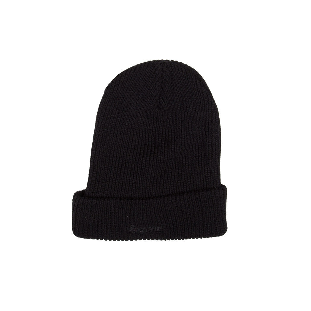 Logo Heavyweight Beanie Carrots by Anwar Carrots Black Back View