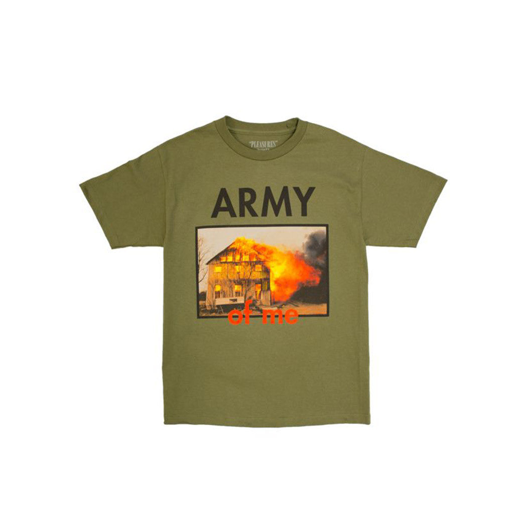 ARMY OF ME TEE PLEASURES KHAKI OLIVE GREEN