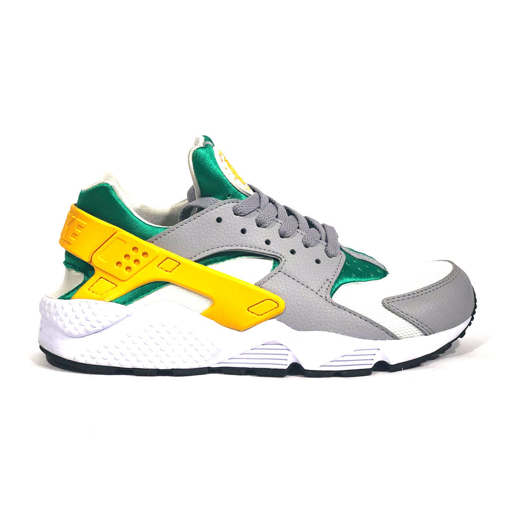 green and yellow huaraches