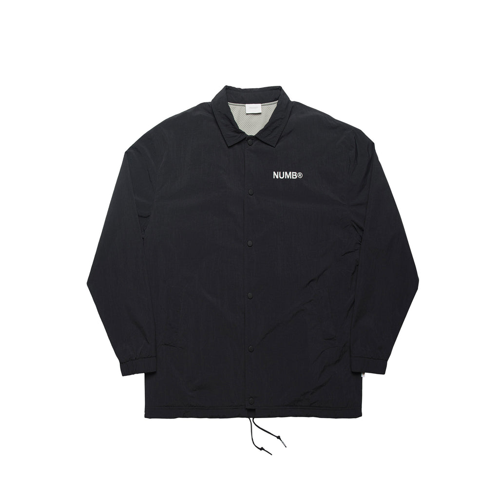 Numb No Gods No Masters Coach Jacket Black Front