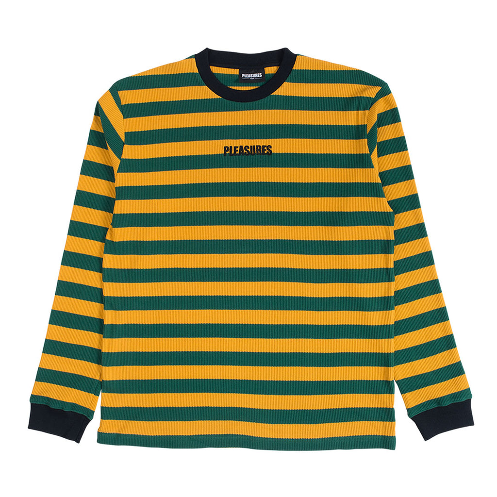 PARADE WAFFLE KNIT LONG SLEEVE SHIRT YELLOW