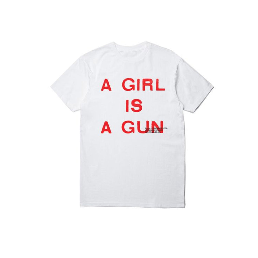 Pleasures Girl is a Gun T-Shirt White