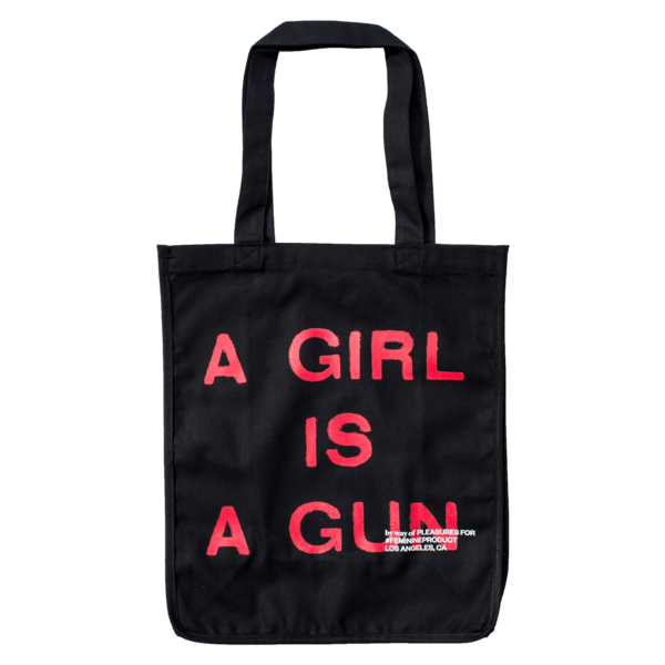 A GIRL IS A GUN TOTE BAG