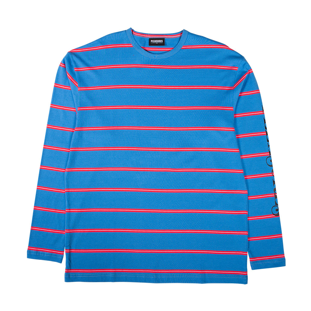 Scream Striped Long Sleeve Bright Blue