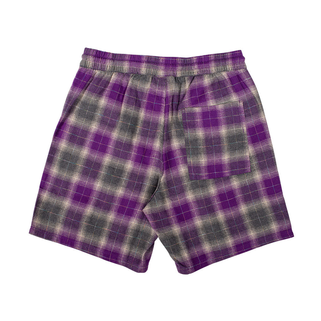 Shadow Plaid Shorts Purple