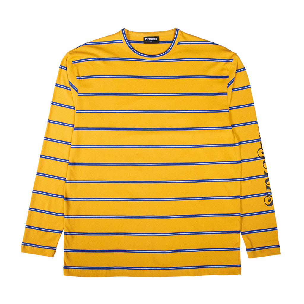 Scream Striped Long Sleeve Mustard