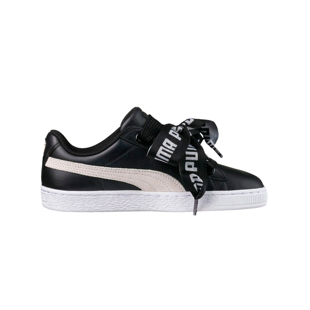 Puma Women's Basket Heart De Sneakers Black Right View
