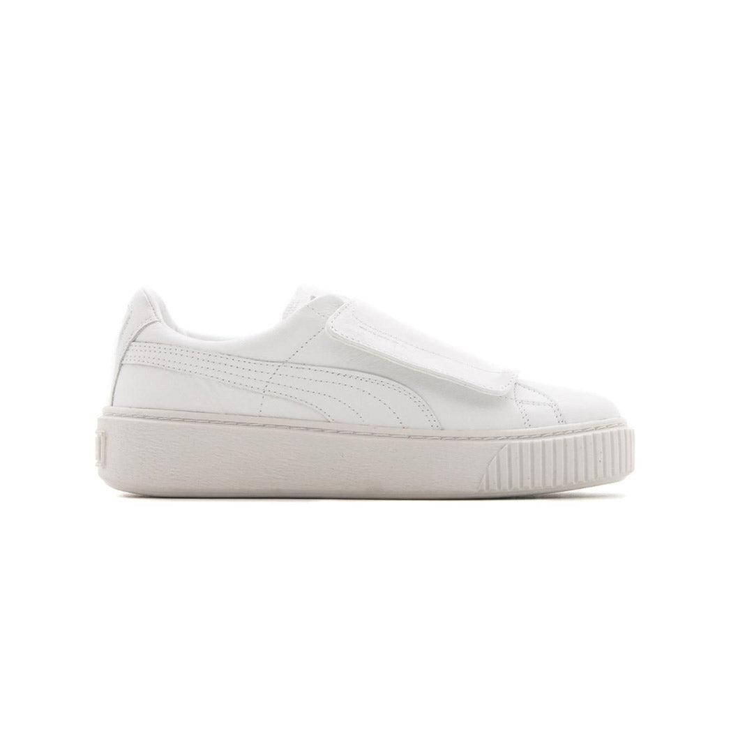 Puma Women's Basket Platform Strap Puma White Side