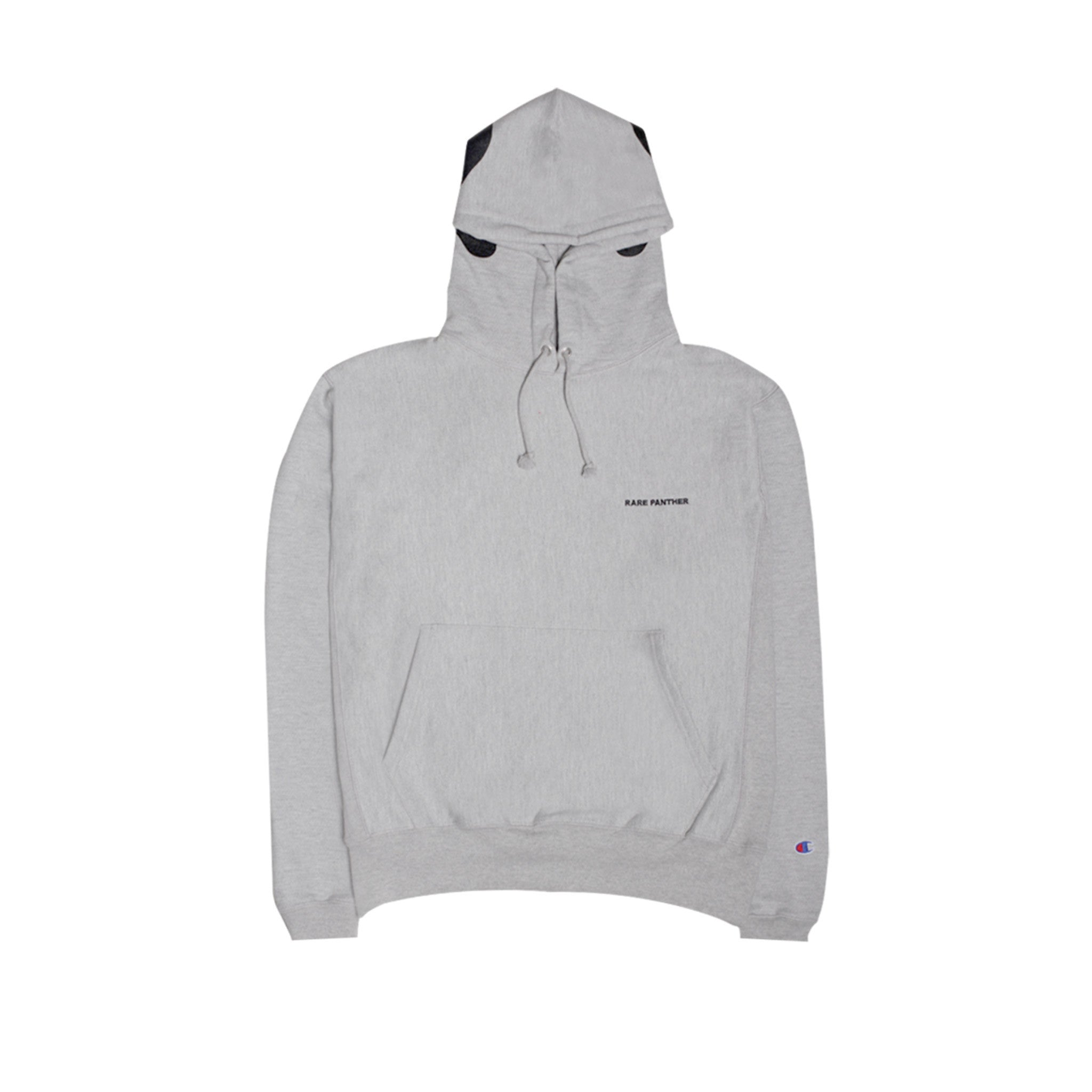Rare Panther Hallow Bolt Eco Champion Hoody Grey Front