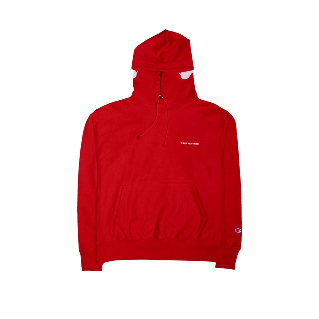 Rare Panther Hallow Bolt Eco Champion Hoody Red Front
