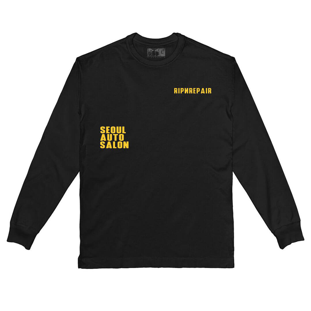 RIP N REPAIR - AUTO SALON LONGSLEEVE TEE - BLACK