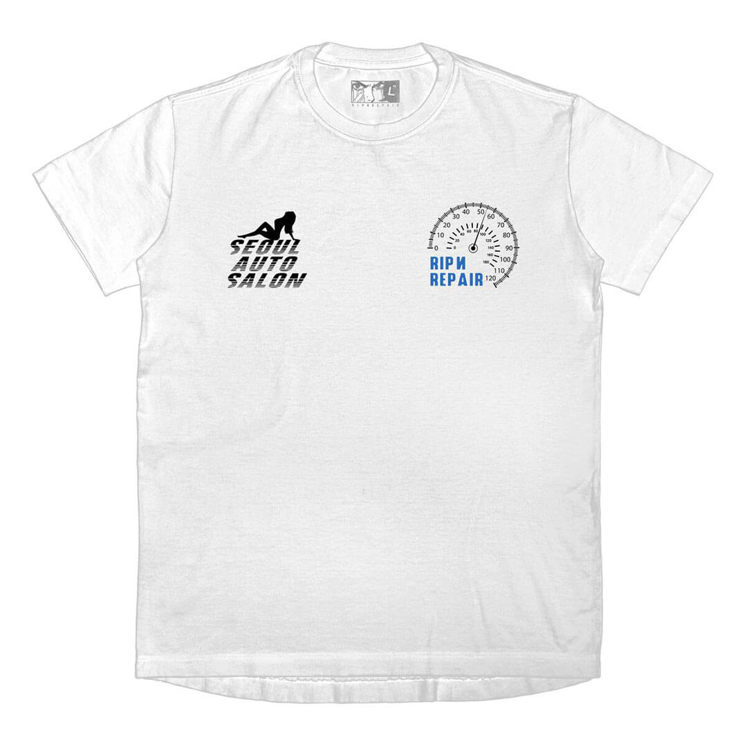 RIP N REPAIR - EXOTIC IMPORTS TEE - WHITE