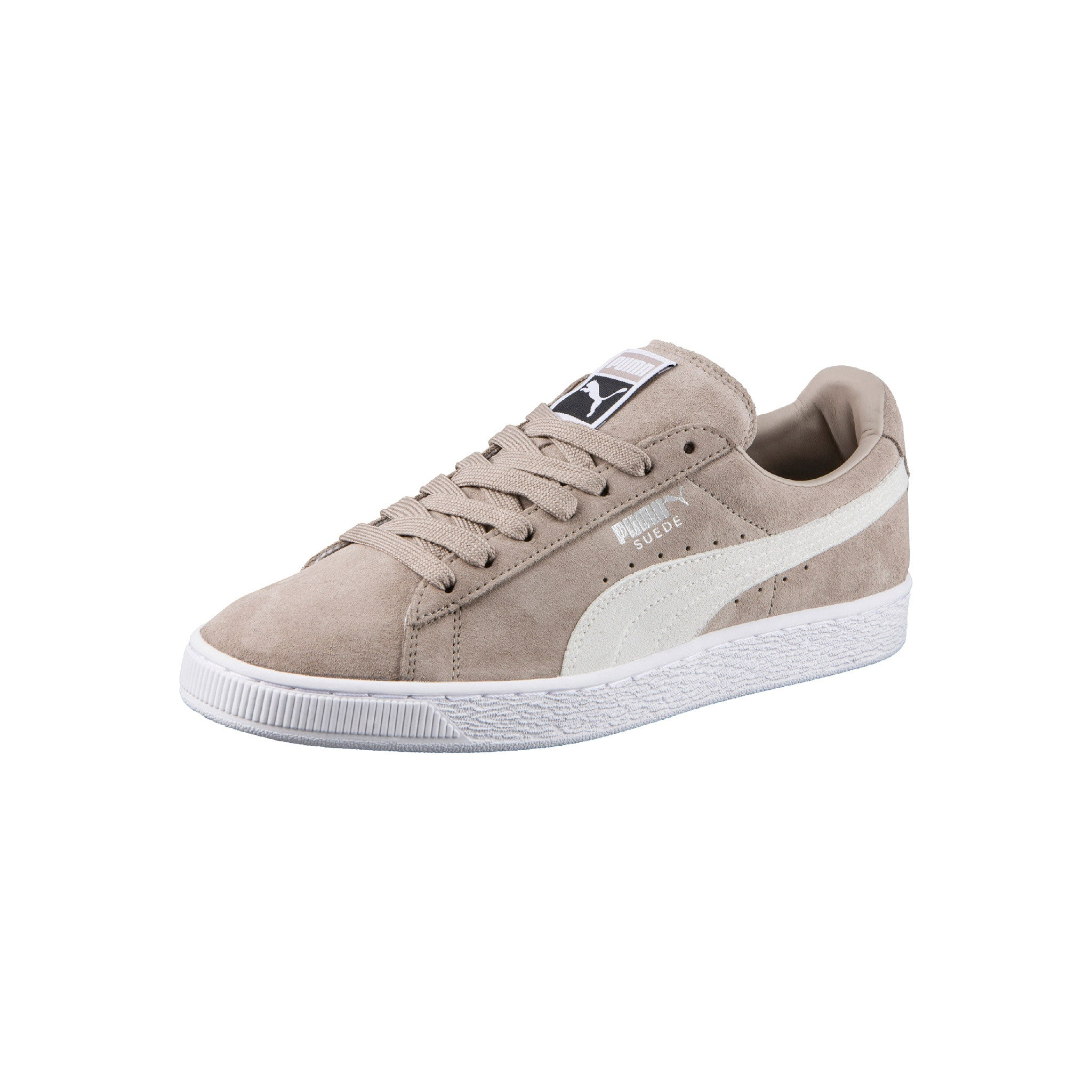 Suede Classic Puma Sneakers Beige Angled View