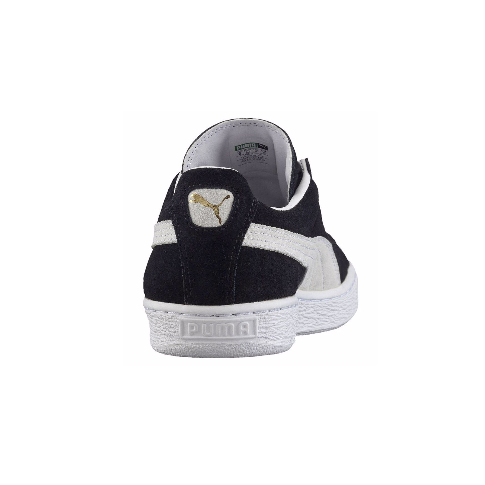 Suede Classic Puma Sneakers Black Back View