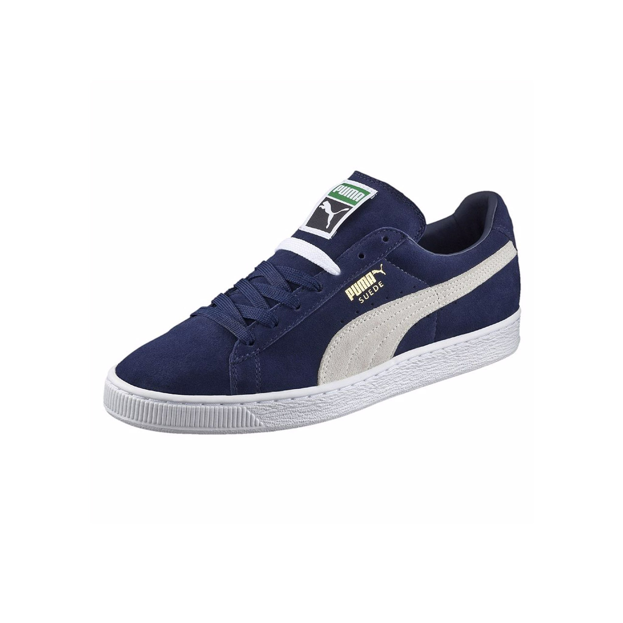 Suede Classic Puma Sneakers Peacoat Angled View