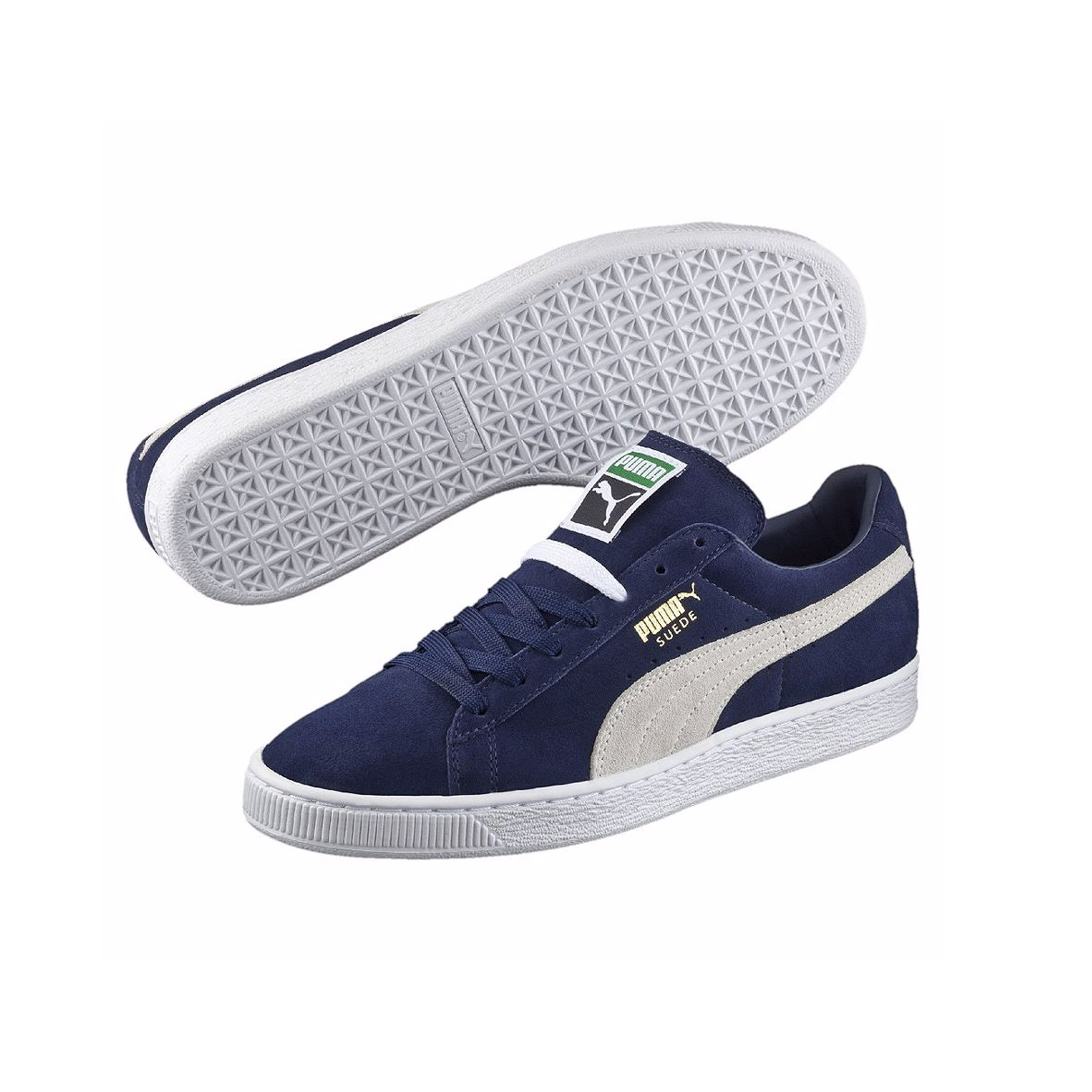 Suede Classic Puma Sneakers Peacoat Pair View