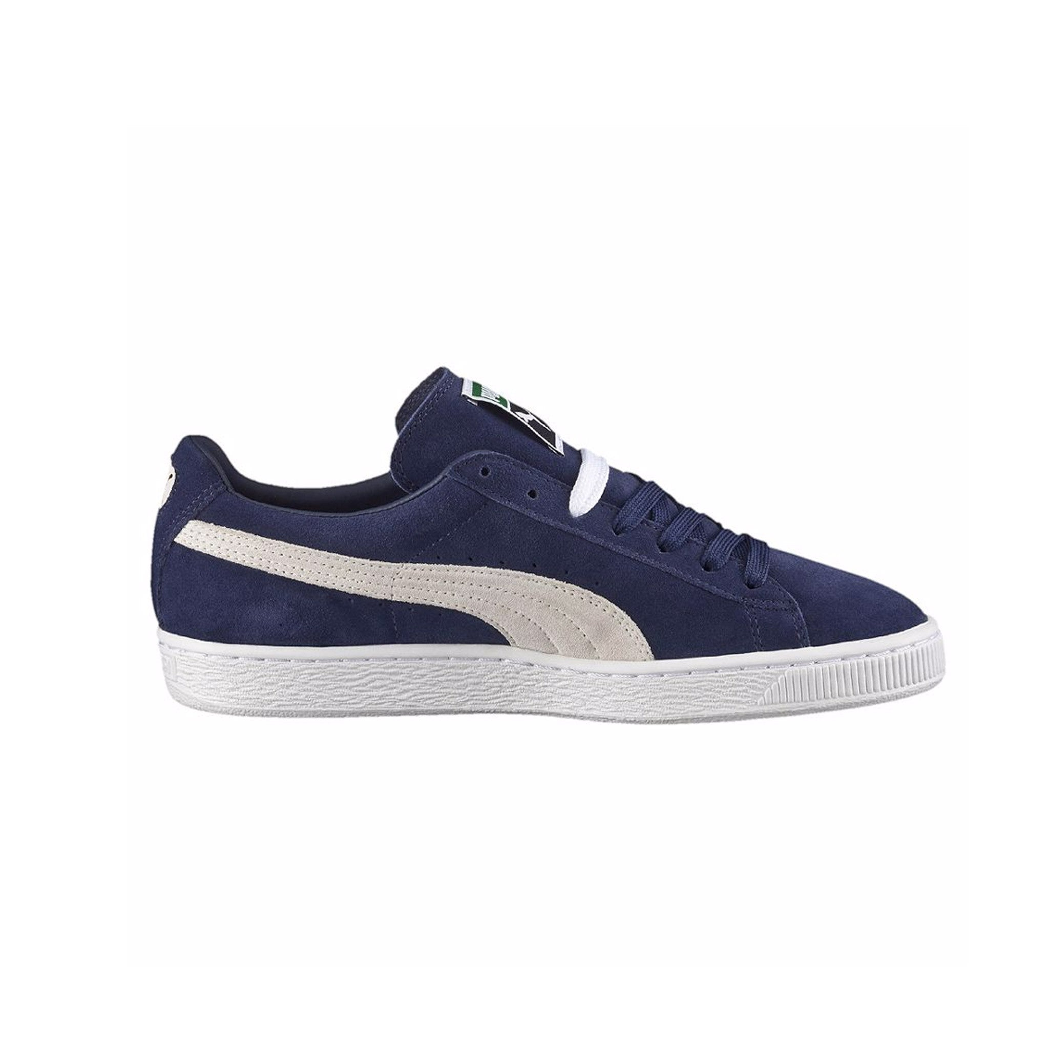 Suede Classic Puma Sneakers Peacoat Side View