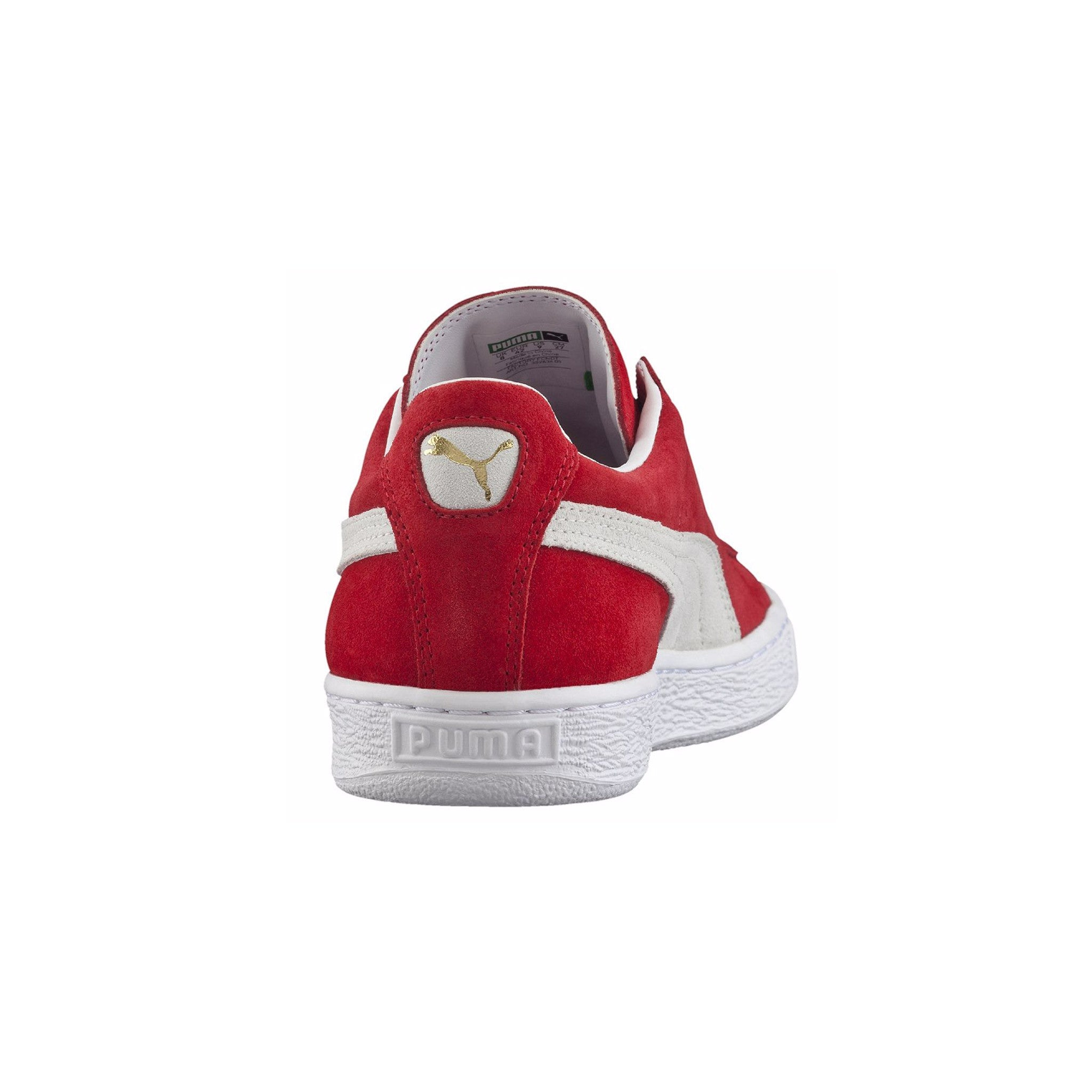 Suede Classic Puma Sneakers Red Back View