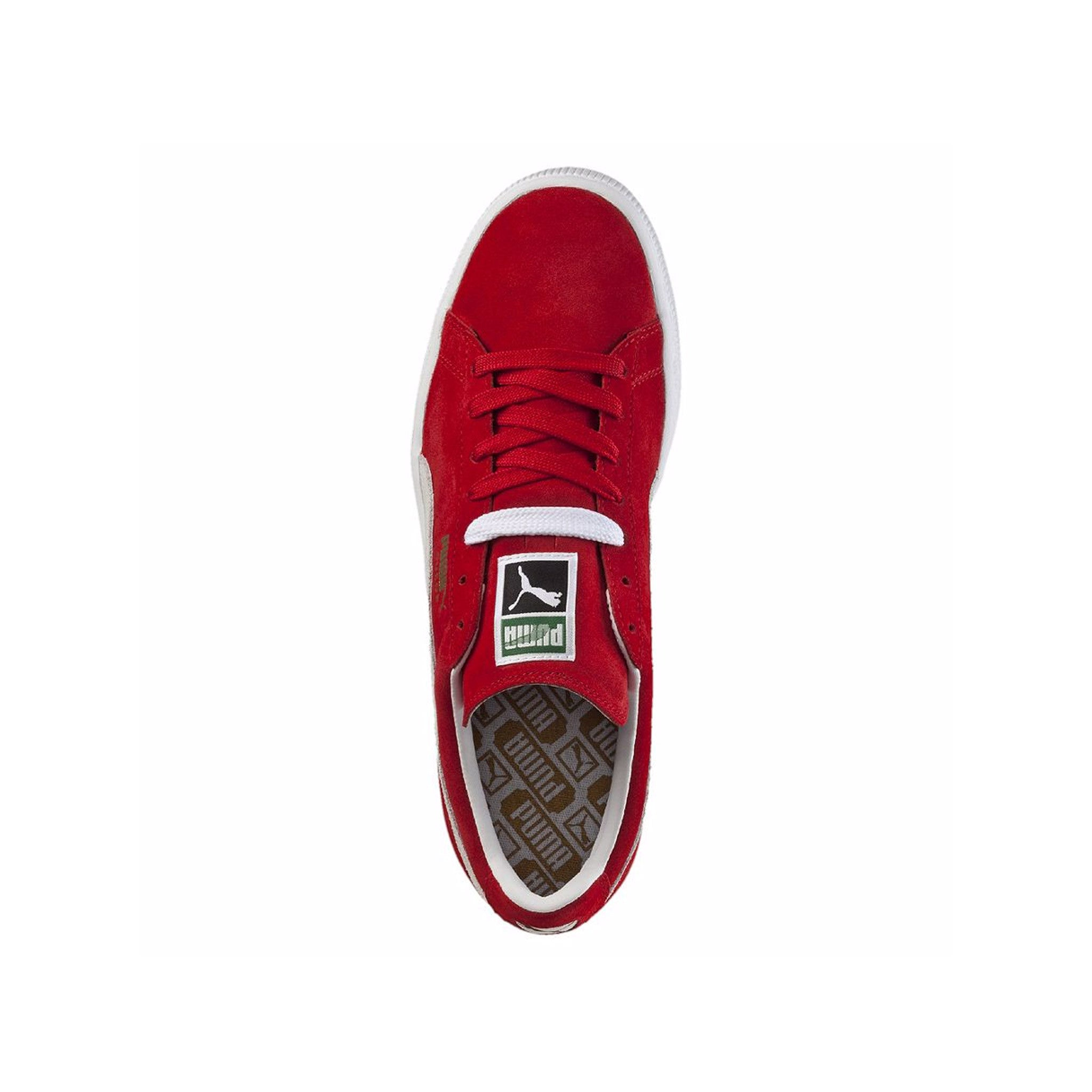 Suede Classic Puma Sneakers Red Top View