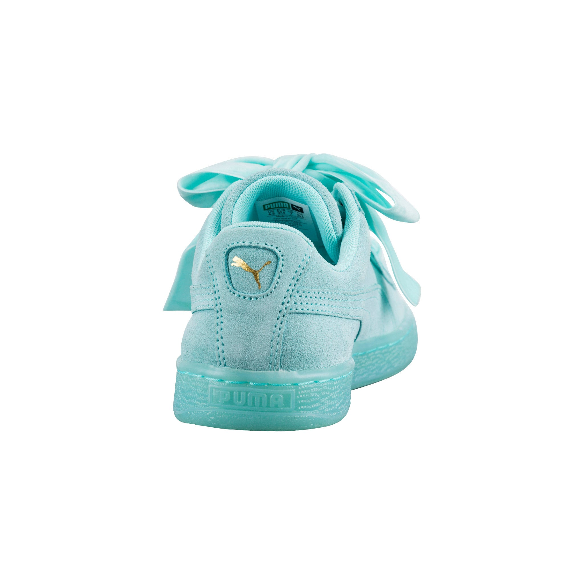 Suede Heart Reset Aruba Puma Sneakers Blue Back View