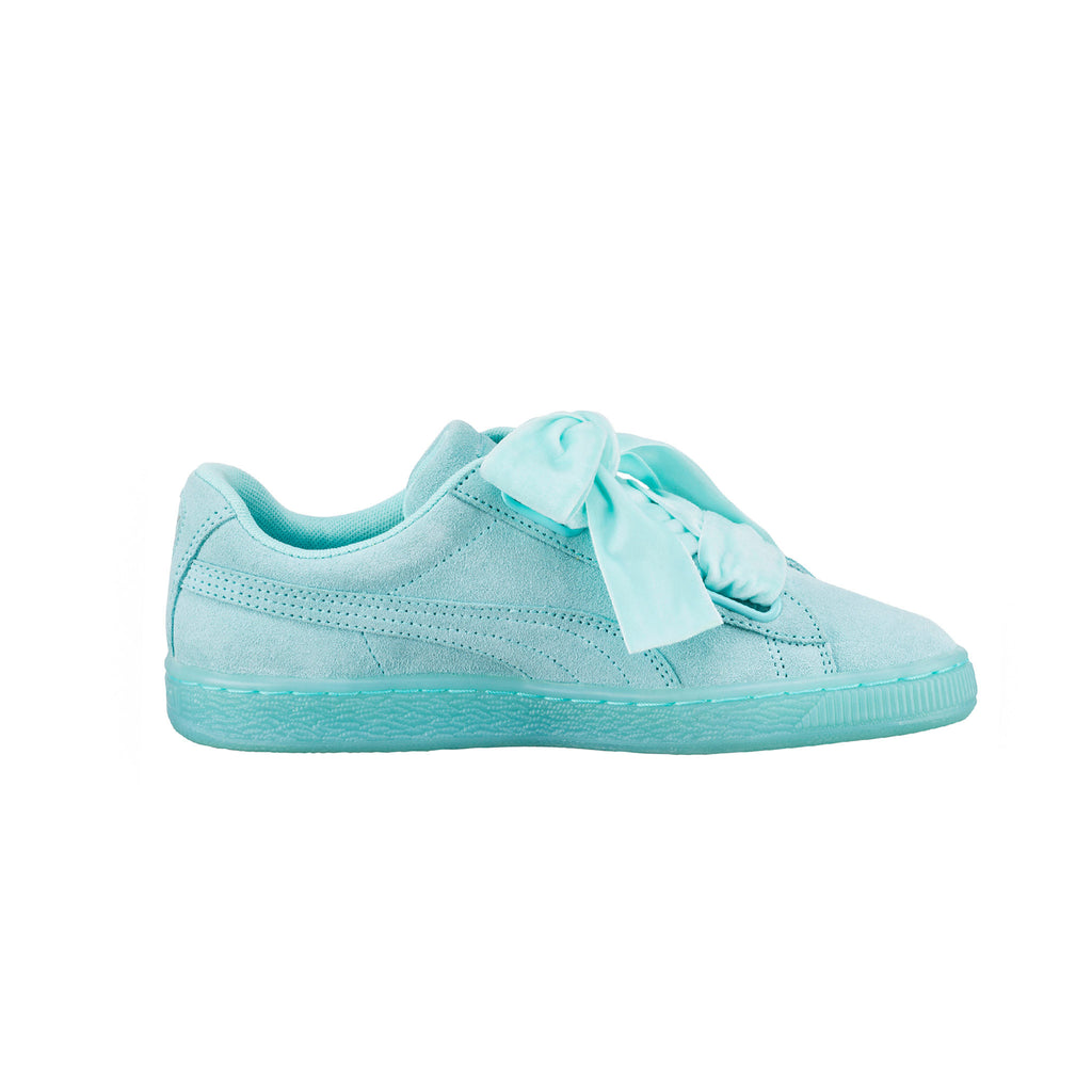 Suede Heart Reset Aruba Puma Sneakers Blue Side View