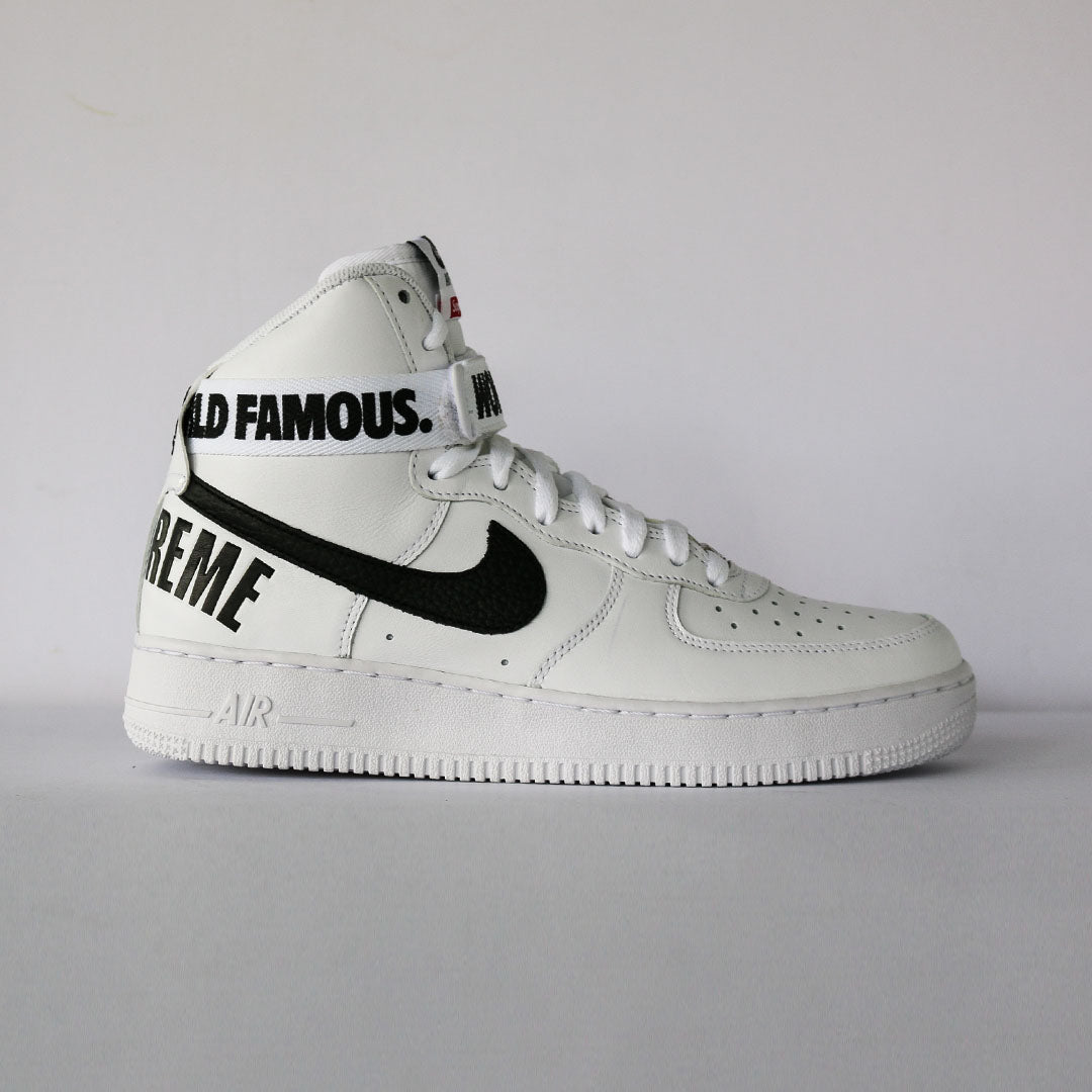 "Supreme x Air Force 1 High ""World Famous"""
