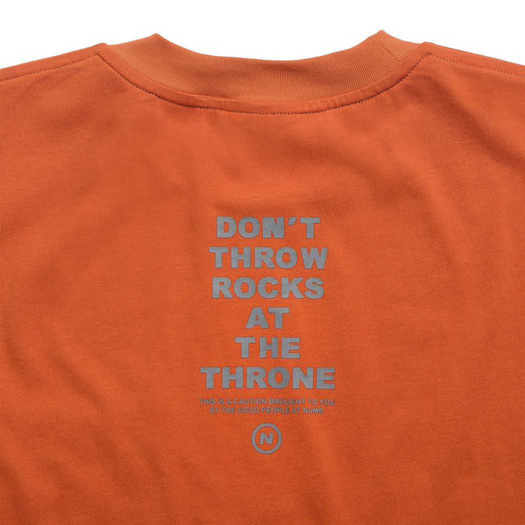 The Throne T-Shirt Numb Burnt Orange Back Detail