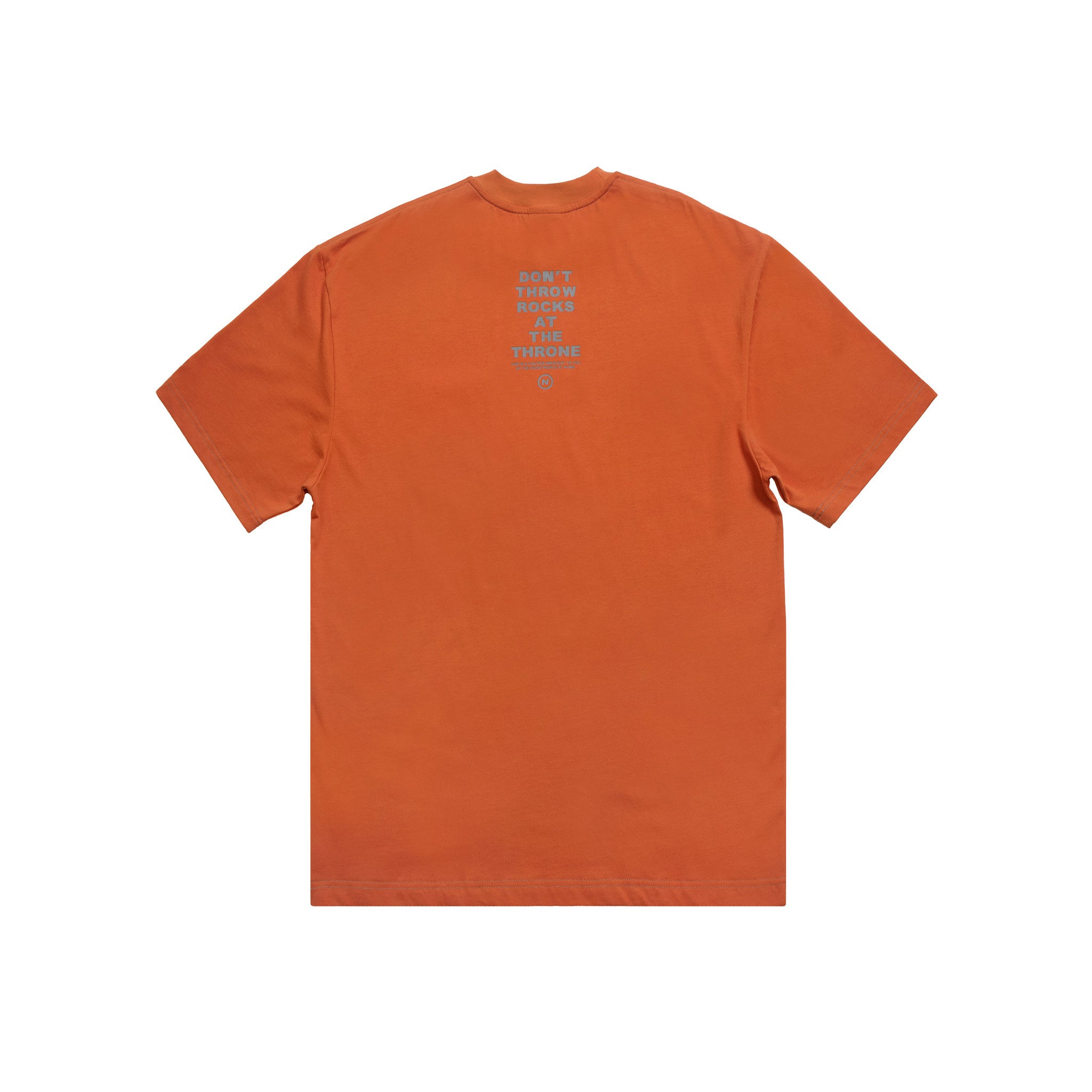 The Throne T-Shirt Numb Burnt Orange Back View