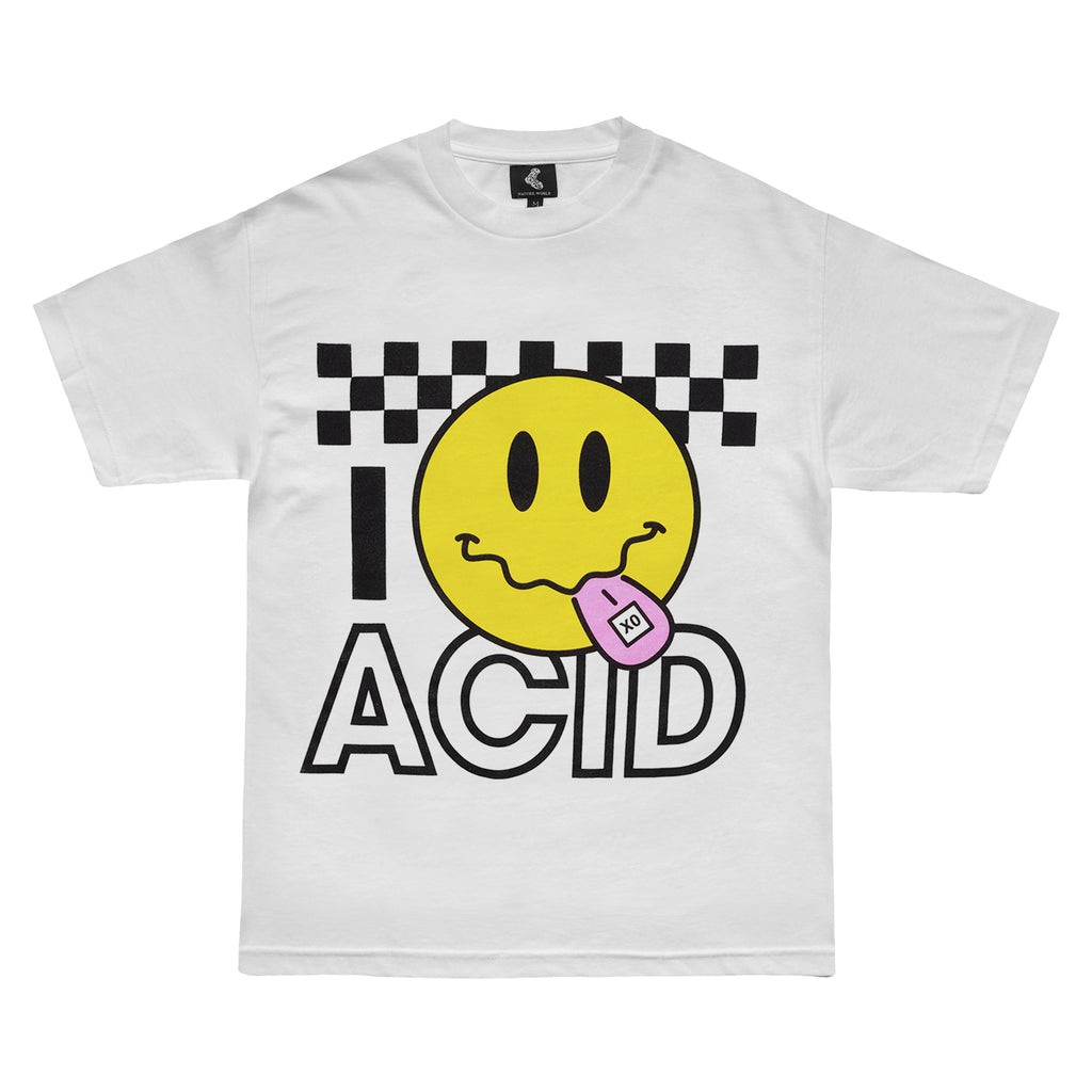 ACID SMILEY TEE WHITE