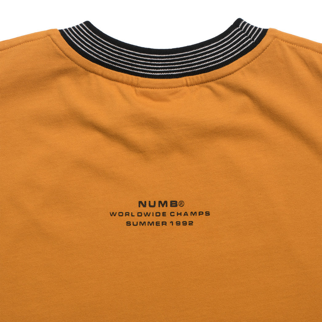 Worldwide Champs Jersey Numb T-Shirt Mustard Back Detail